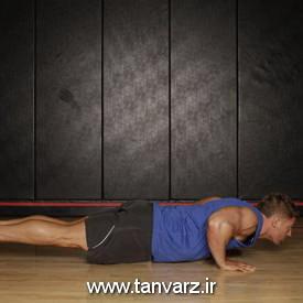 حرکت شنا چرخشی Push Up to Side Plank