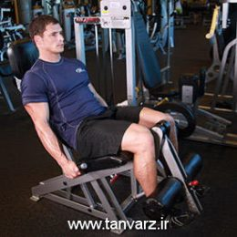 حرکت جلو پا با دستگاه Leg extensions