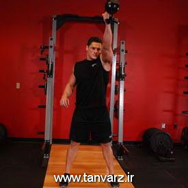 حرکت کتلبل سوئینگ (One-Arm Kettlebell Swings)