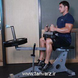 حرکت ساق پا نشسته Seated calf raise