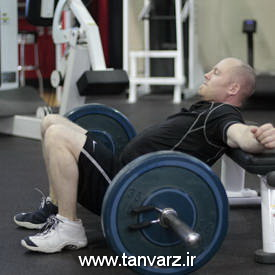 حرکت هیپ تراست Barbell Hip Thrust برای افزایش نسبت دور کمر به باسن