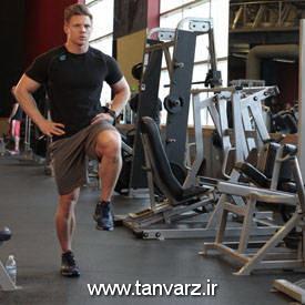 حرکت لانگ همراه با قدم زدن با وزن بدن Bodyweight Walking Lunge