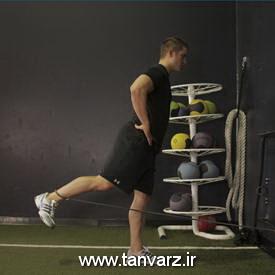 کشش باسن از تمرینات قدرتی کل بدن