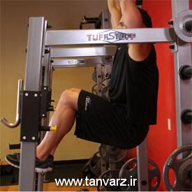 حرکت زیر شکم خلبانی - Hanging Leg Raise