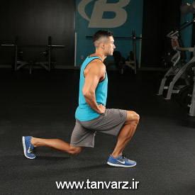 حرکت لانج با وزن بدن -Bodyweight Lunge