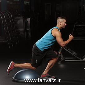 حرکت اسکوات با ضربه زانو Knee Tap Squat