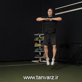 حرکت پرش زانو به سمت داخل - Knee Tuck Jump