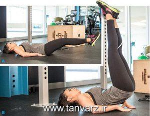 حرکت بالا آوردن پاها در حالت خوابیده - Lying Leg Raises