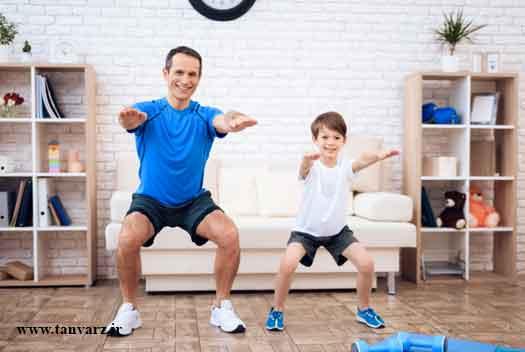 برنامه عمومی تمرین در خانه