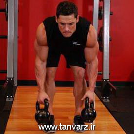 حرکت Two Arm Kettlebell Row