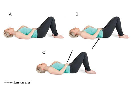 تقویت عضلات کمر در خانه،