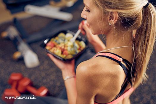 قبل از تمرین بدنسازی چی بخوریم