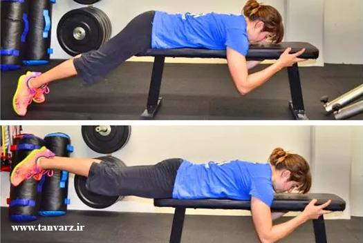 حرکت پشت پا برای بهبود نسبت دور کمر به باسن