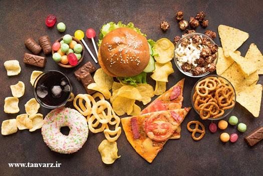 لاغری شکم و پهلو به کمک پرهیز از غذاهای فرآوری شده به عنوان یکی از راههای لاغری شکم