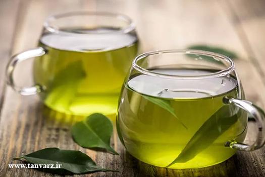 چای سبز از راههای لاغری شکم و لاغری سریع شکم