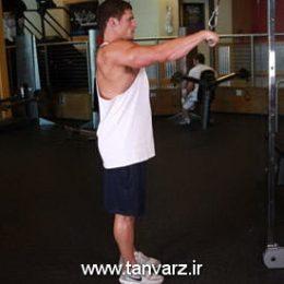حرکت زیر بغل سیمکش دست صاف Straight-Arm Pulldown