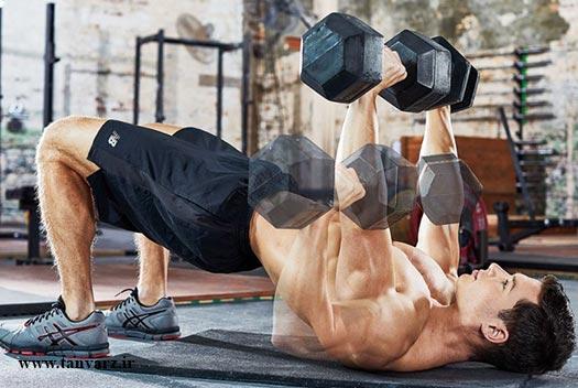 برنامه بدنسازی با دمبل برای کل بدن